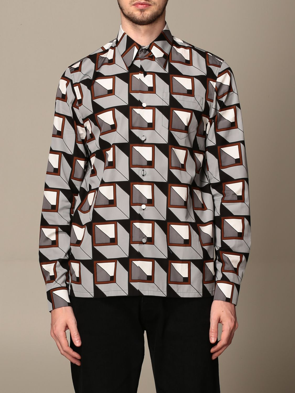 Camisa Prada: Camisa hombre Prada acero 1