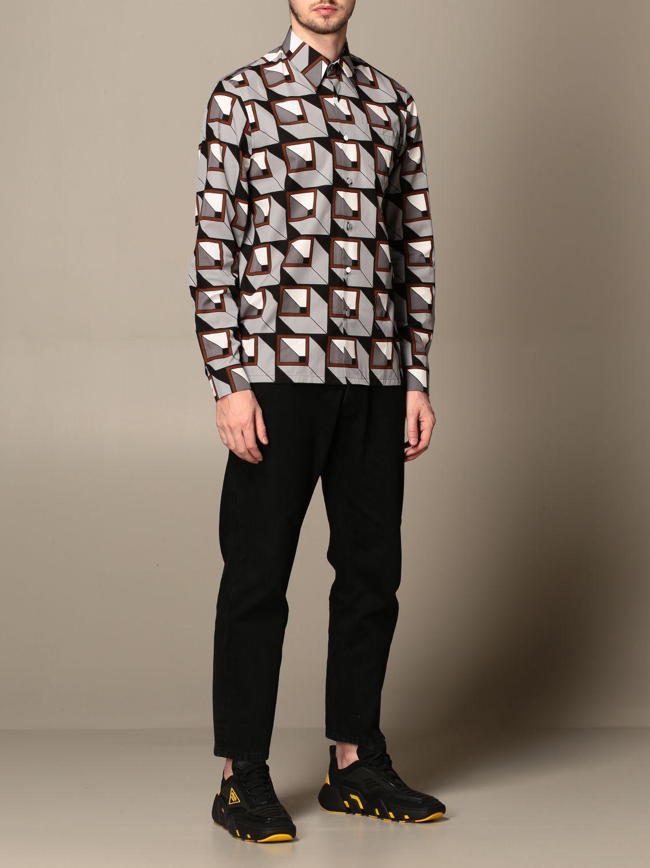 Camisa Prada: Camisa hombre Prada acero 2