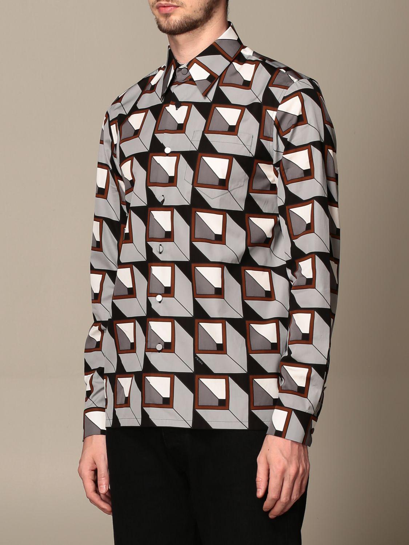Camisa Prada: Camisa hombre Prada acero 4