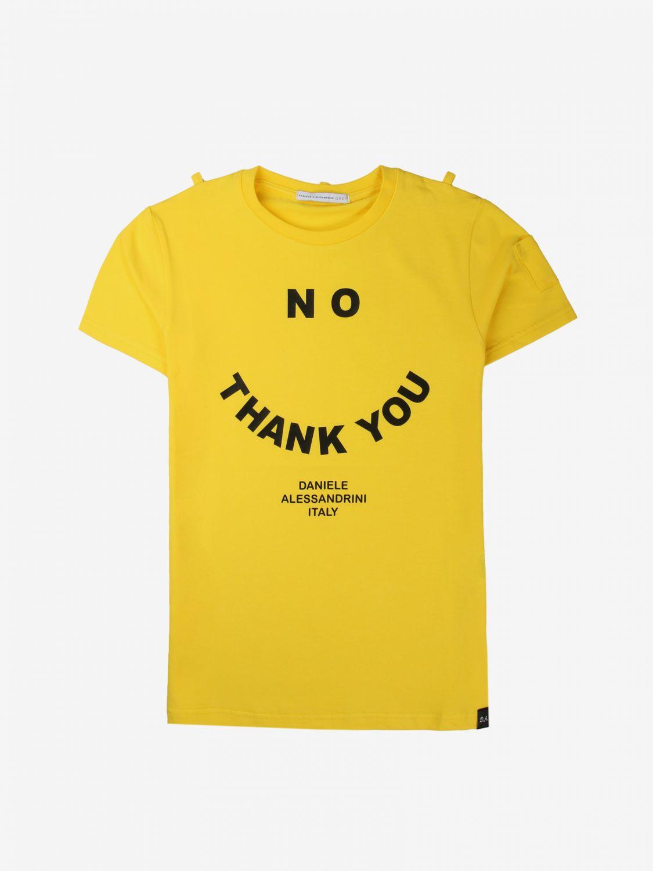 T-shirt Daniele Alessandrini: T-shirt bambino Daniele Alessandrini giallo 1