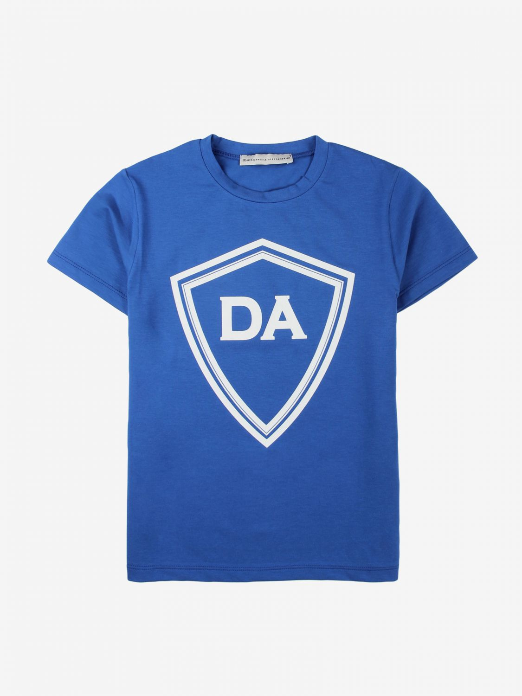 T-shirt Daniele Alessandrini: T-shirt Daniele Alessandrini con maxi stampa blue 1