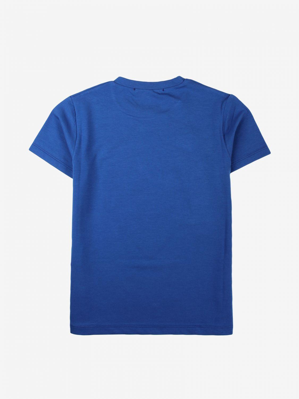 T-shirt Daniele Alessandrini: T-shirt Daniele Alessandrini con maxi stampa blue 2
