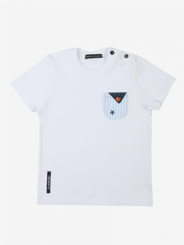 T-shirt Daniele Alessandrini: T-shirt Daniele Alessandrini con taschino a toppa bianco 1