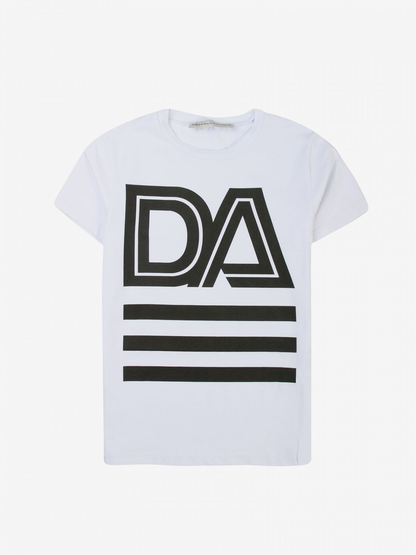 T-shirt Daniele Alessandrini: T-shirt Daniele Alessandrini con maxi stampa bianco 1