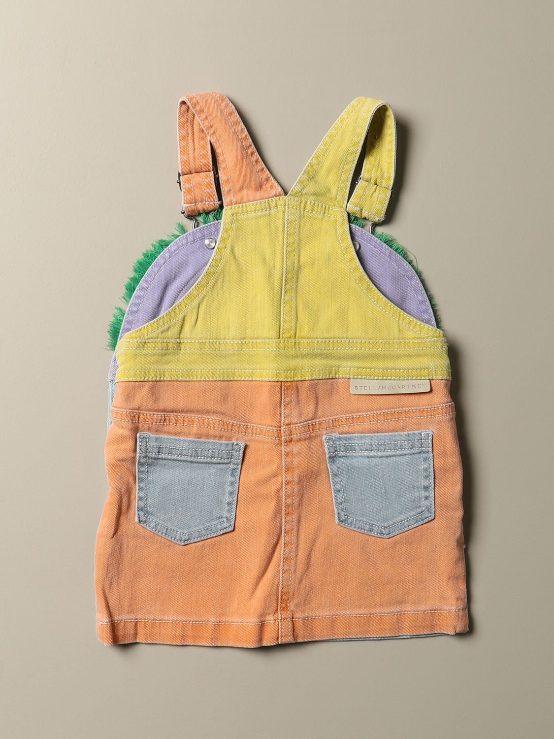Tracksuit Stella Mccartney: Dungaree dress in colored denim with horse patch multicolor 2