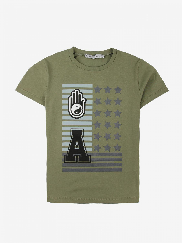 T-shirt Daniele Alessandrini: T-shirt Daniele Alessandrini con stampa verde 1