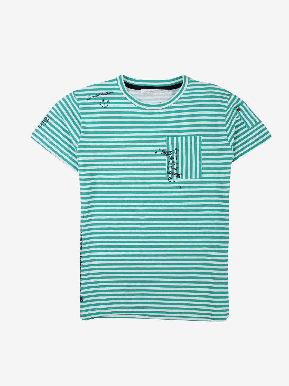 T-shirt Daniele Alessandrini: T-shirt Daniele Alessandrini a micro righe verde 1