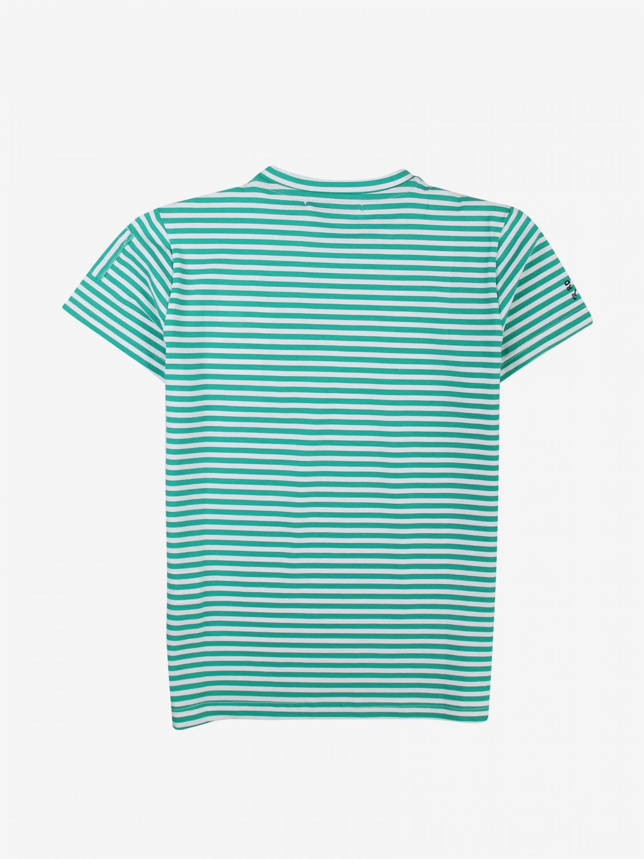 T-shirt Daniele Alessandrini: T-shirt Daniele Alessandrini a micro righe verde 2