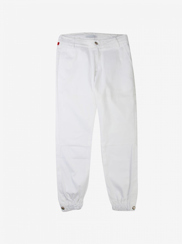 Pantalone Daniele Alessandrini: Pantalone bambino Daniele Alessandrini bianco 1