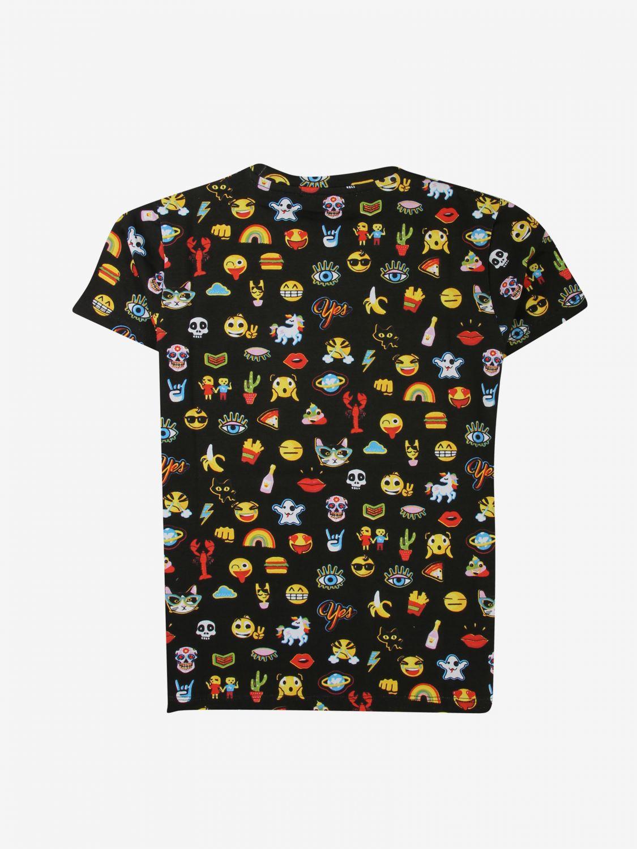 T-shirt Daniele Alessandrini: T-shirt Daniele Alessandrini stampata nero 2