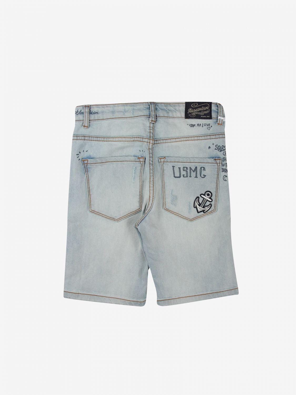 Pantaloncino Daniele Alessandrini: Pantaloncino bambino Daniele Alessandrini blue 2