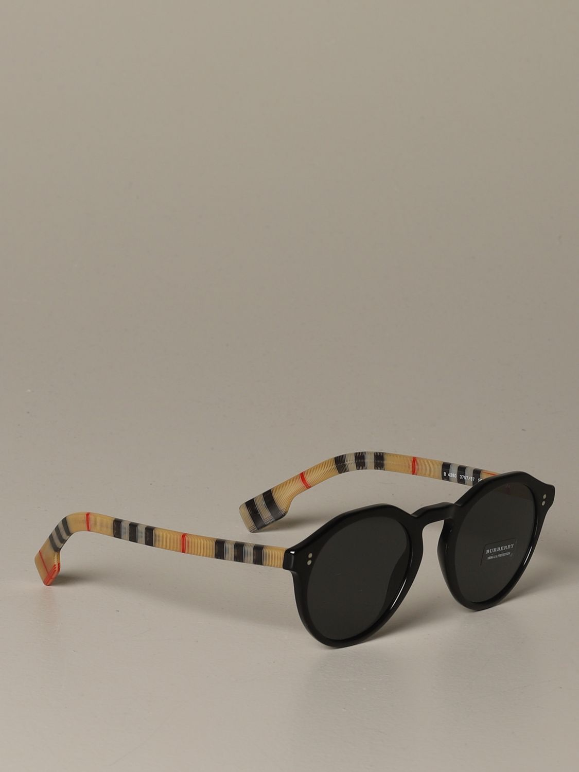 Glasses Burberry: Blake Burberry sunglasses with check temples black 1