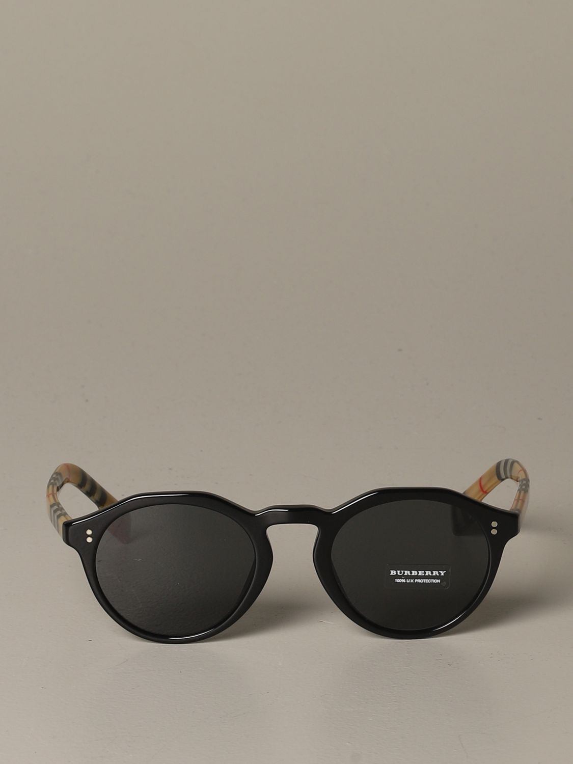 Glasses Burberry: Blake Burberry sunglasses with check temples black 2