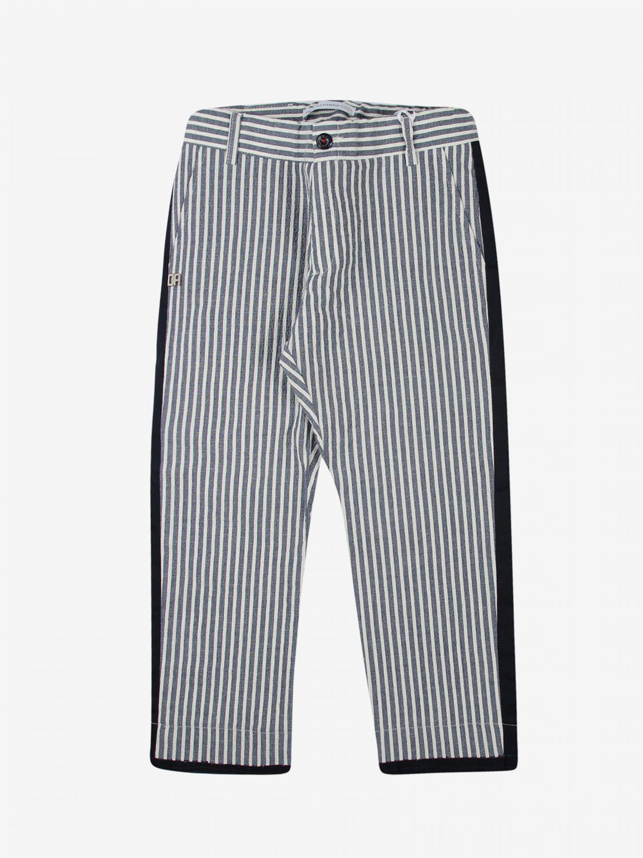 Trousers Daniele Alessandrini: Trousers kids Daniele Alessandrini blue 1