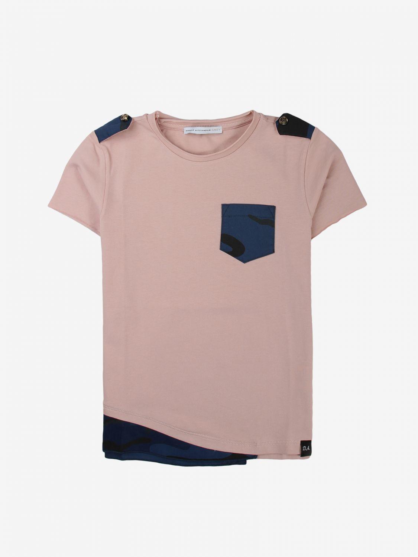 T-shirt Daniele Alessandrini: T-shirt kids Daniele Alessandrini pink 1