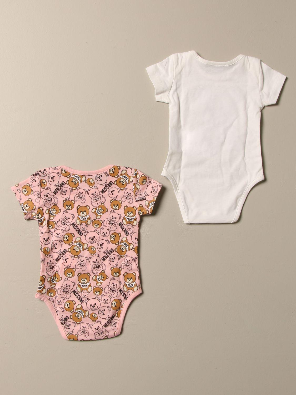 Bodysuit Moschino Baby: Set of 2 Moschino Baby cotton bodysuits pink 2