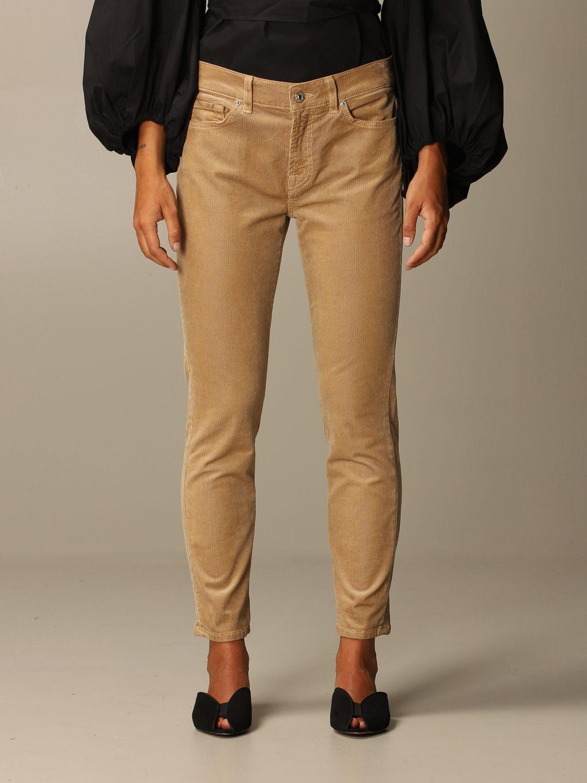 牛仔裤 Seven Seven: 牛仔裤 女士 Seven Seven 米色 1