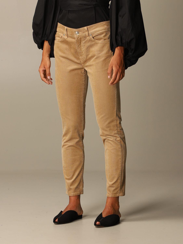 牛仔裤 Seven Seven: 牛仔裤 女士 Seven Seven 米色 4