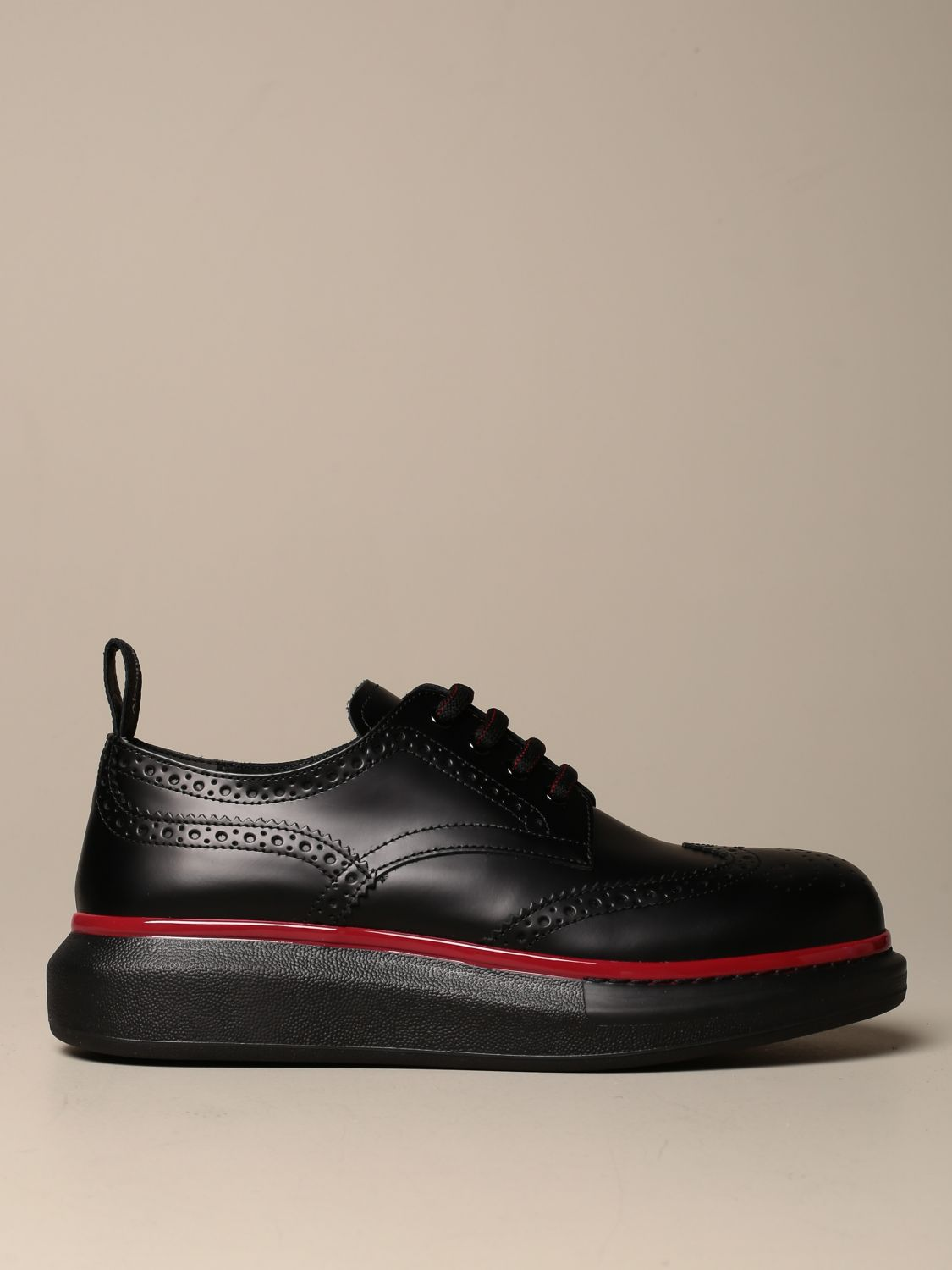 Brogue shoes Mcq Mcqueen: Mcq McQueen lace-up derby in leather with brogue motif black 1