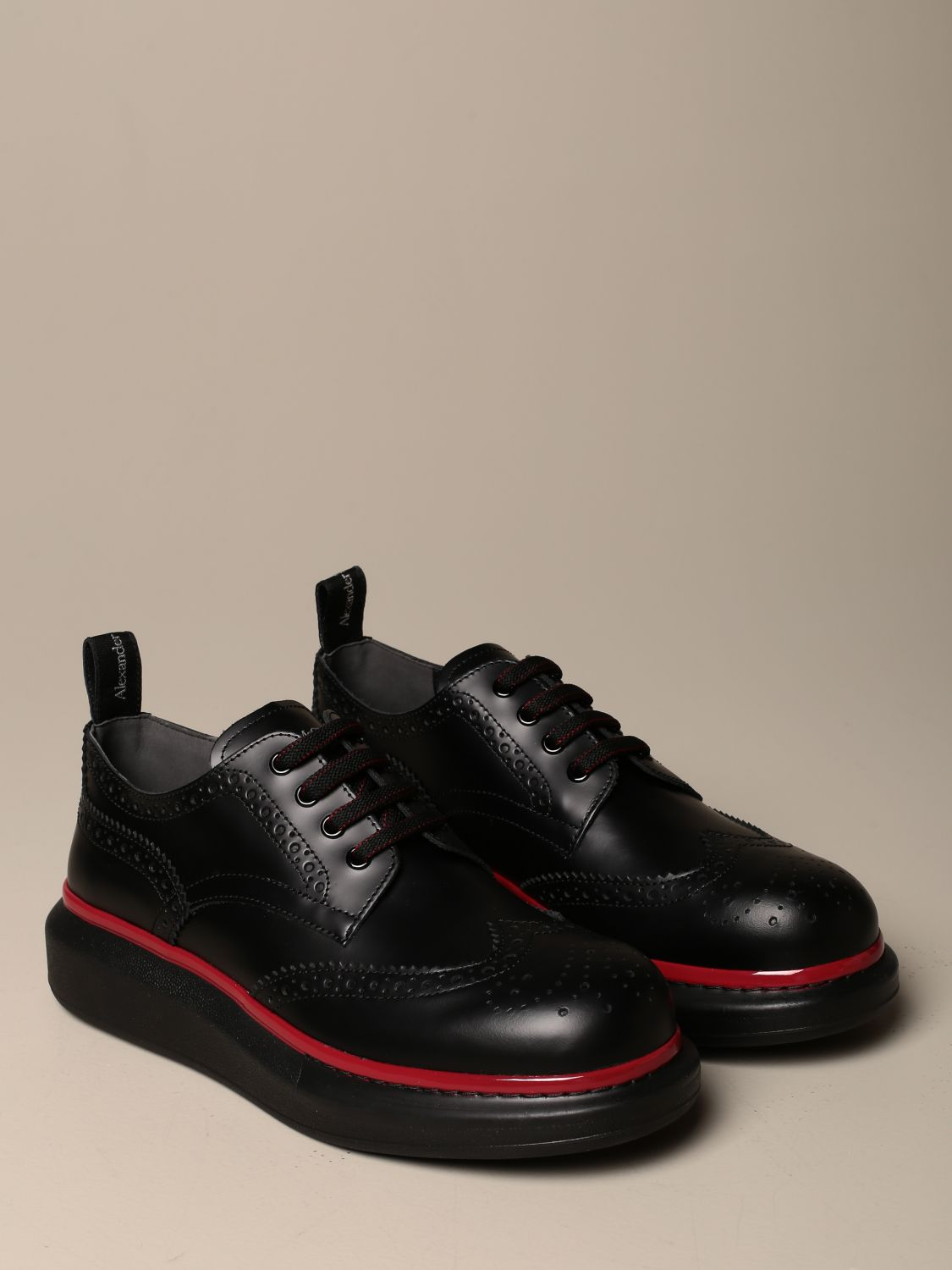 Brogue shoes Mcq Mcqueen: Mcq McQueen lace-up derby in leather with brogue motif black 2