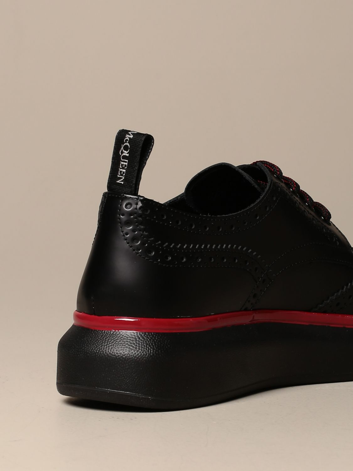 Brogue shoes Mcq Mcqueen: Mcq McQueen lace-up derby in leather with brogue motif black 3
