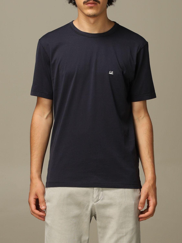 T-Shirt C.p. Company: T-shirt herren C.p. Company blau 1