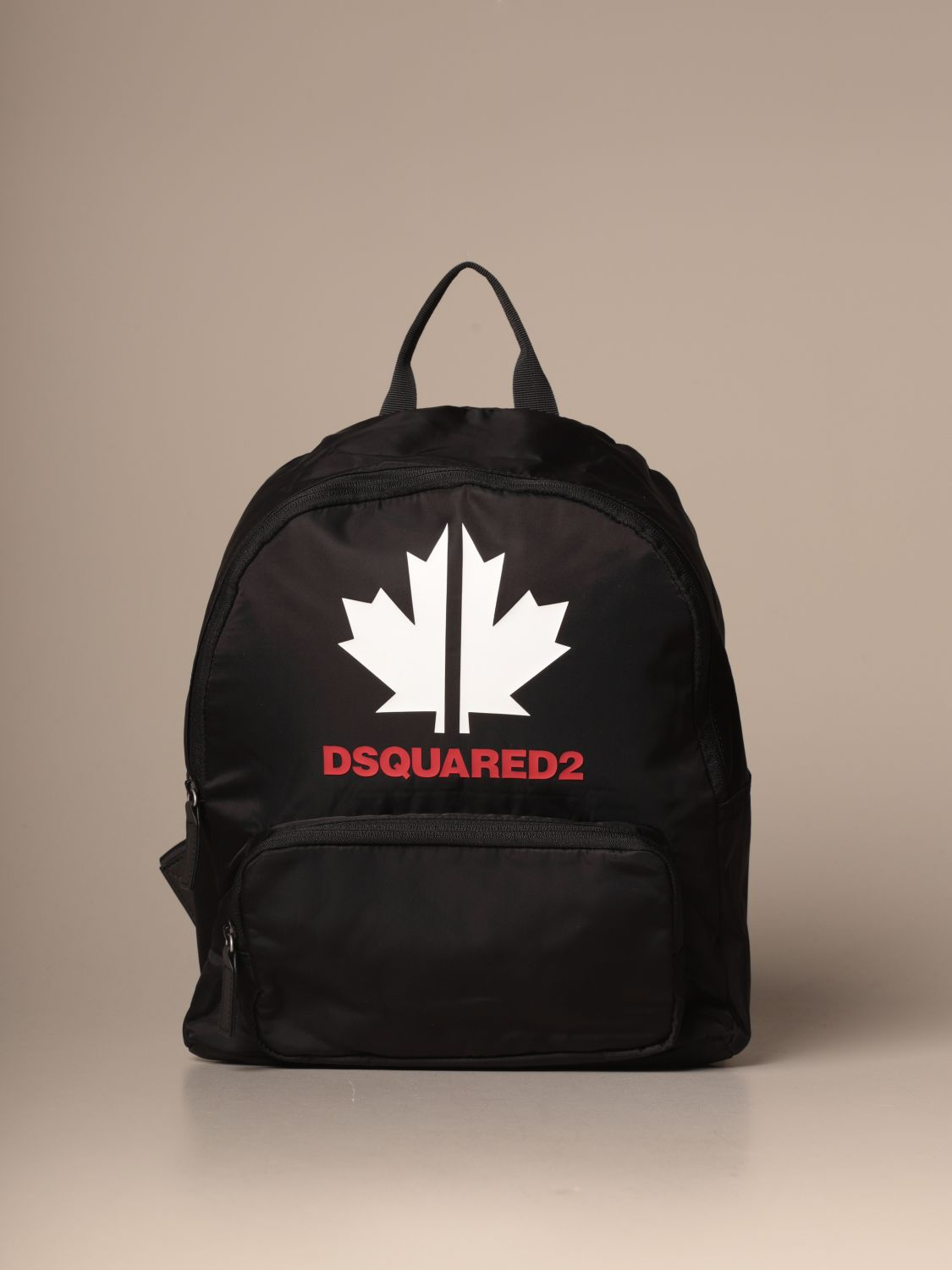 Duffel Bag Dsquared2 Junior: Dsquared2 Junior backpack in nylon with maple leaf black 1