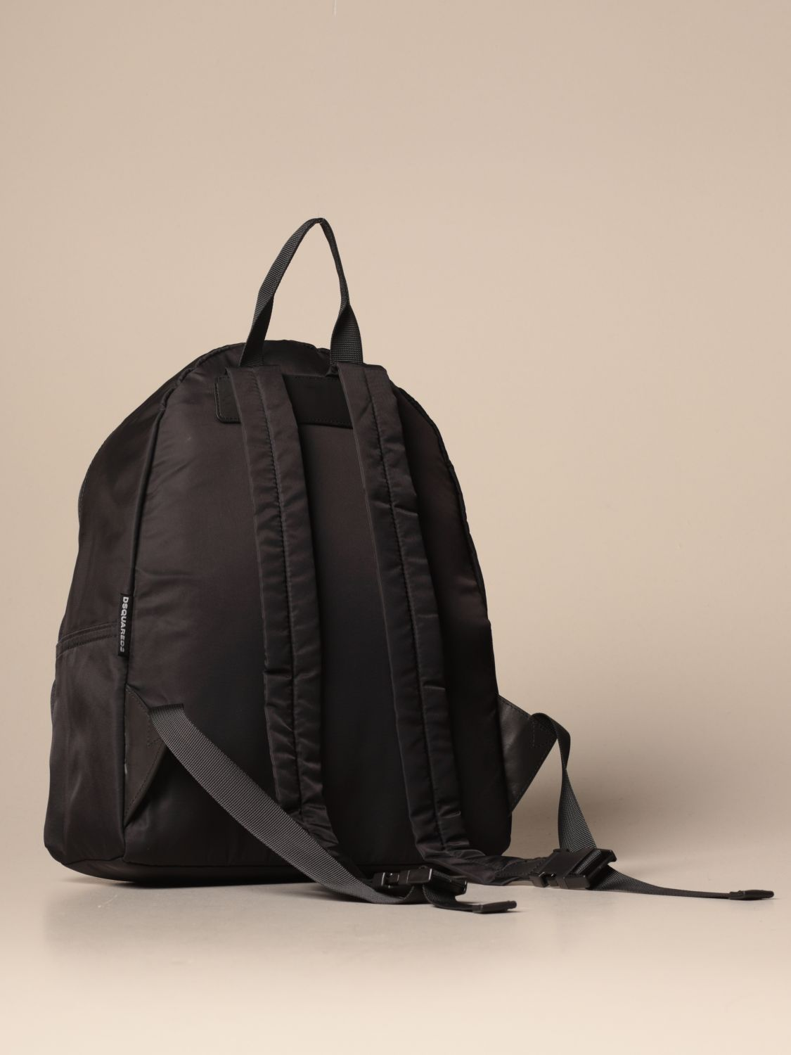 Duffel Bag Dsquared2 Junior: Dsquared2 Junior backpack in nylon with maple leaf black 2
