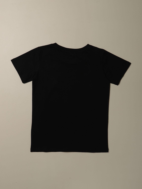 T-shirt Balmain: T-shirt Balmain in cotone con mini logo nero 1 2