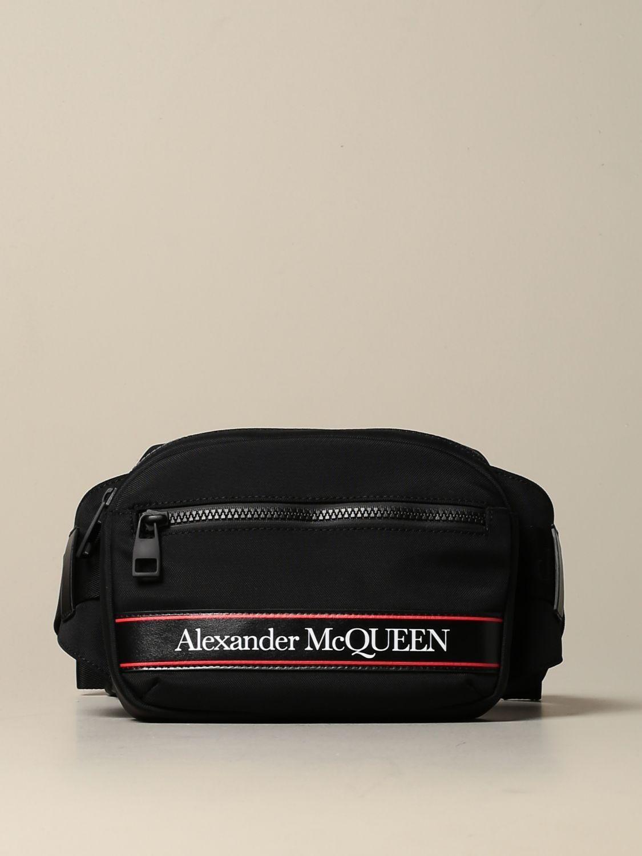 Сумка на поя Alexander Mcqueen: Сумка на поя Мужское Alexander Mcqueen черный 1