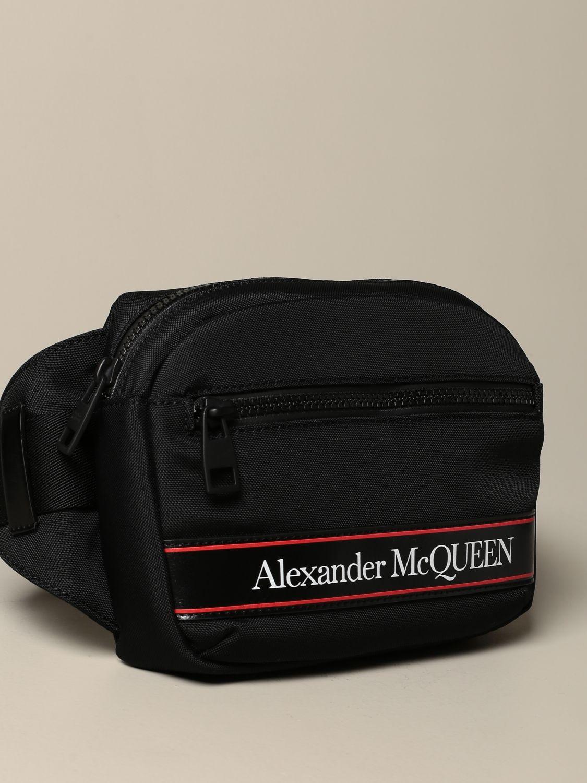 Сумка на поя Alexander Mcqueen: Сумка на поя Мужское Alexander Mcqueen черный 4