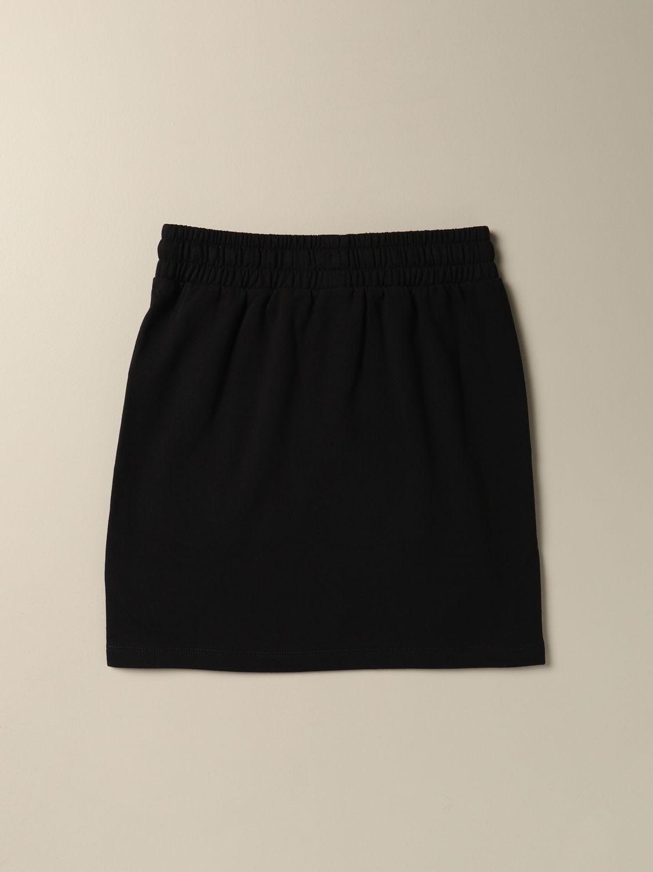 Skirt Moschino Kid: Moschino Kid jogging skirt with logo black 2