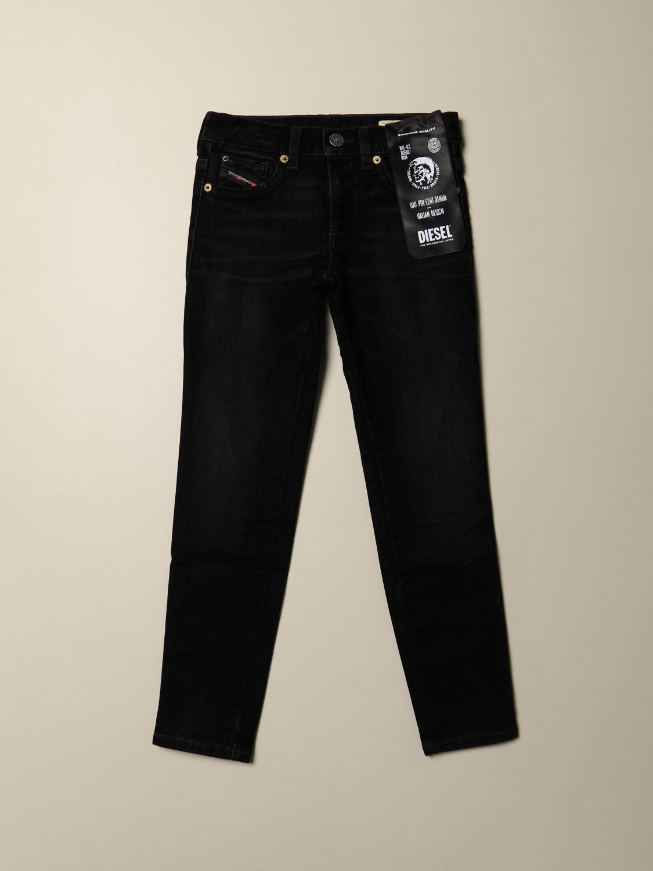 Jeans Diesel: Jeans Diesel dritti in denim scuro nero 1