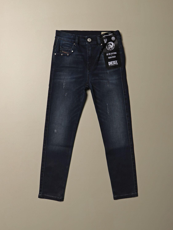 Jeans Diesel: Jeans Diesel skinny fit in denim con micro rotture blue 1