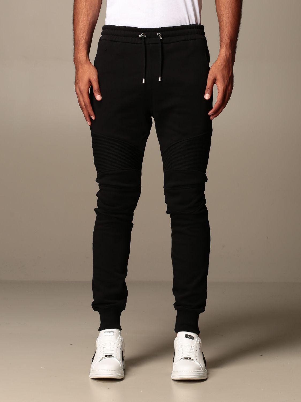 Trousers Balmain: Trousers men Balmain black 1