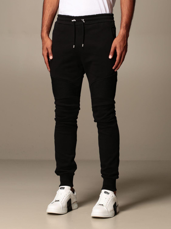 Trousers Balmain: Trousers men Balmain black 3