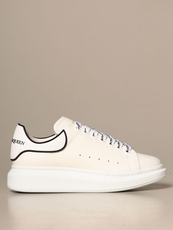 Sneakers Alexander Mcqueen: Alexander McQueen sneakers in leather with logo white 2 1