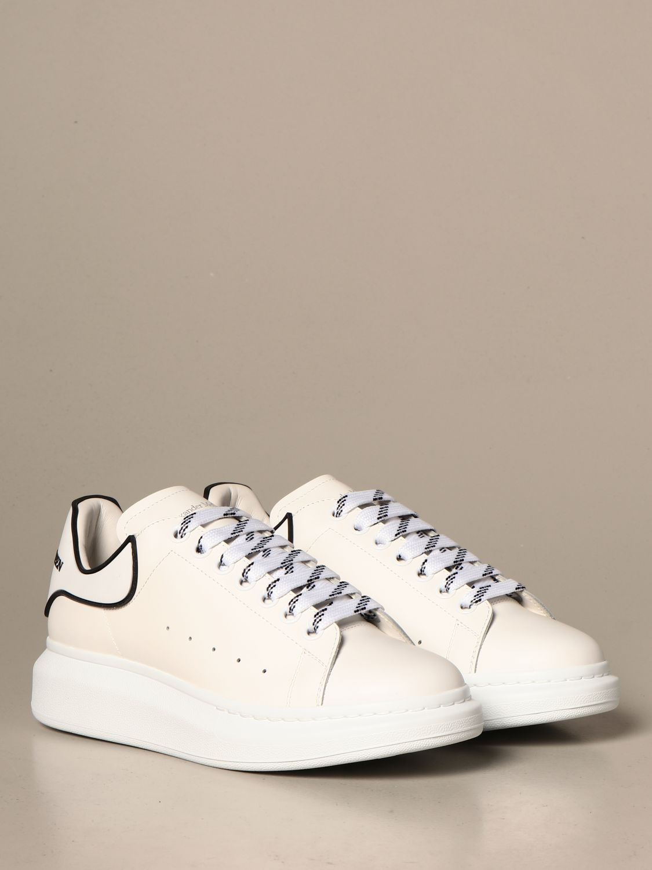 Sneakers Alexander Mcqueen: Alexander McQueen sneakers in leather with logo white 2 2