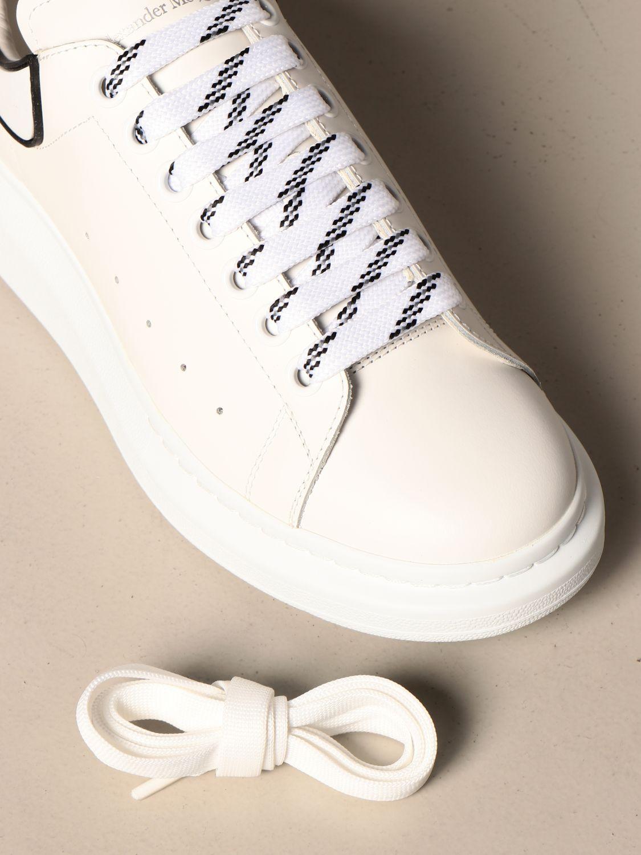 Sneakers Alexander Mcqueen: Alexander McQueen sneakers in leather with logo white 2 4