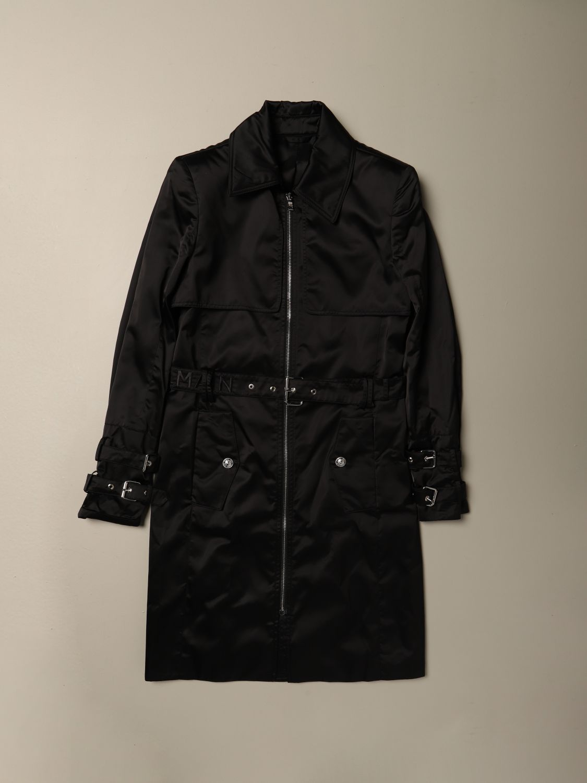 Cappotto Balmain: Cappotto lungo Balmain in nylon con cinta nero 1