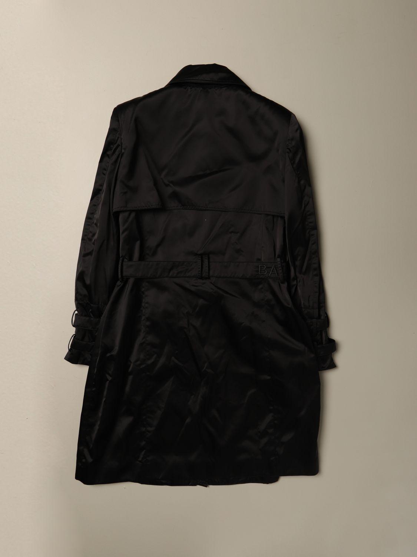Cappotto Balmain: Cappotto lungo Balmain in nylon con cinta nero 2