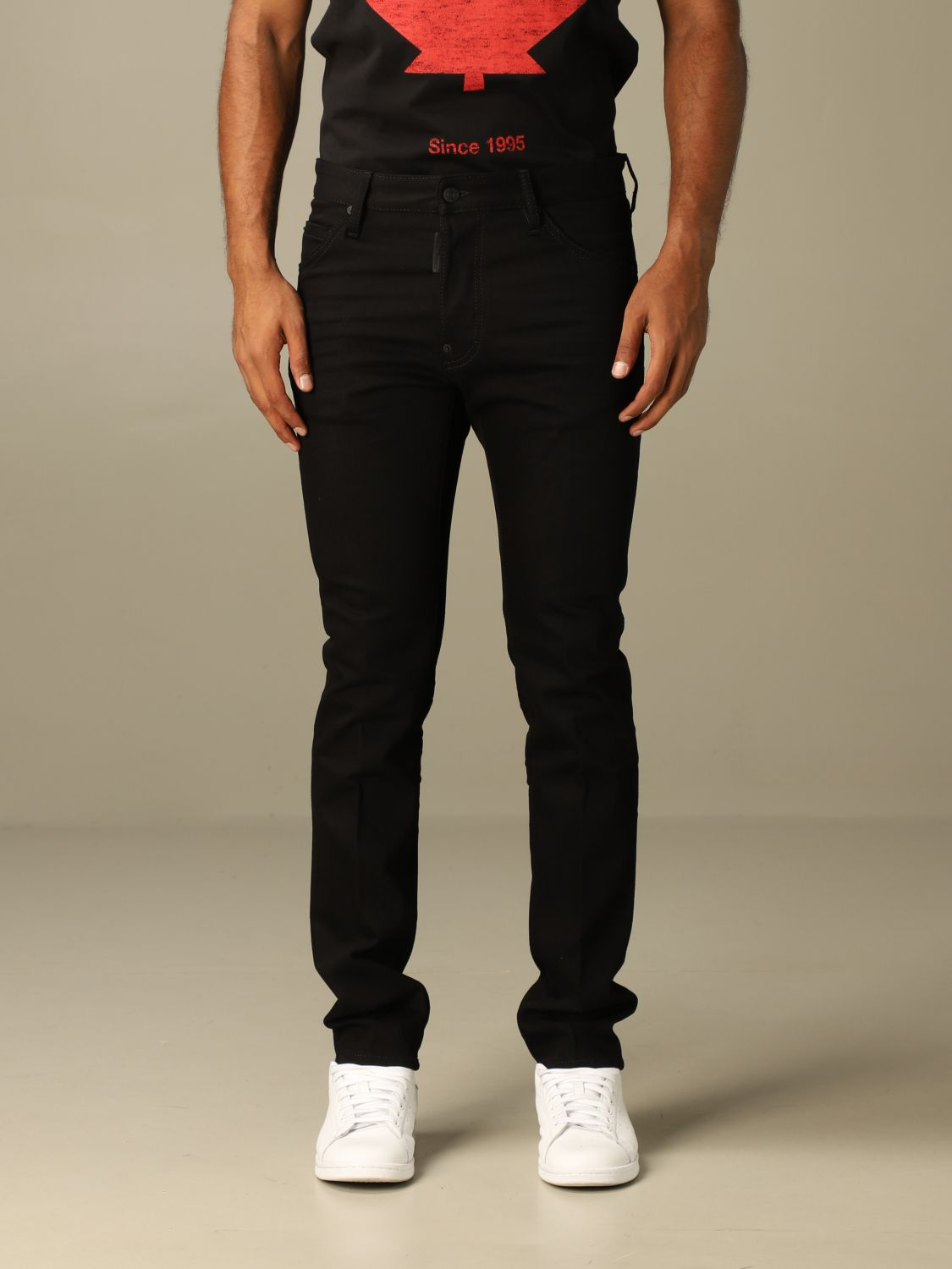 Jeans Dsquared2: Dsquared2 slim fit dark jeans with 5 pockets black 1