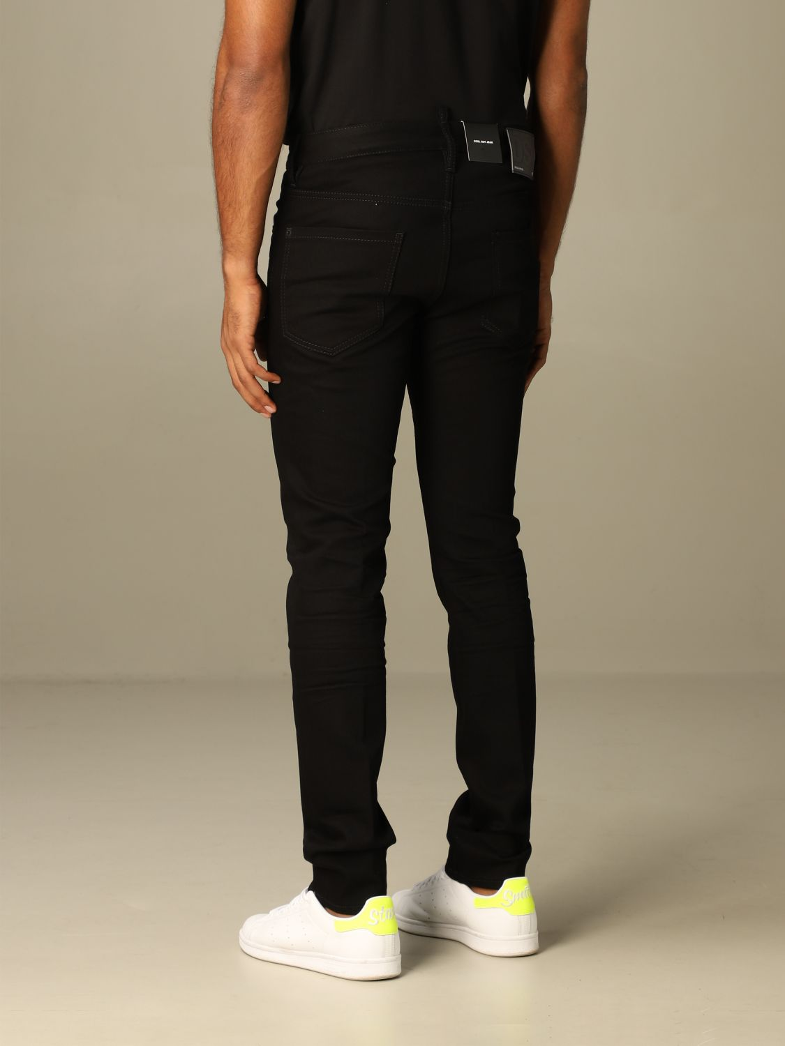 Jeans Dsquared2: Dsquared2 slim fit dark jeans with 5 pockets black 2