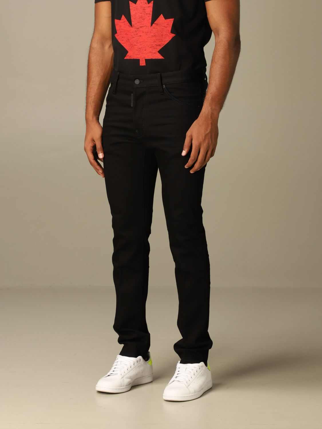 Jeans Dsquared2: Dsquared2 slim fit dark jeans with 5 pockets black 3