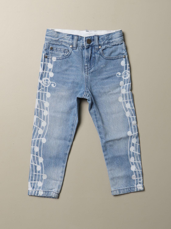 Jeans Stella Mccartney: Jeans Stella McCartney in denim used con note musicali denim 1