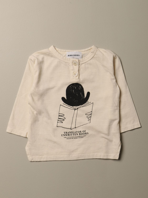 T-shirt Bobo Choses: T-shirt Bobo Choses con stampa e bottoni beige 1