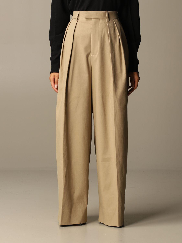 Pants Bottega Veneta: Wide Bottega Veneta trousers beige 1