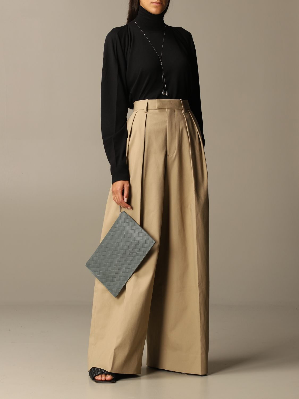 Pants Bottega Veneta: Wide Bottega Veneta trousers beige 2