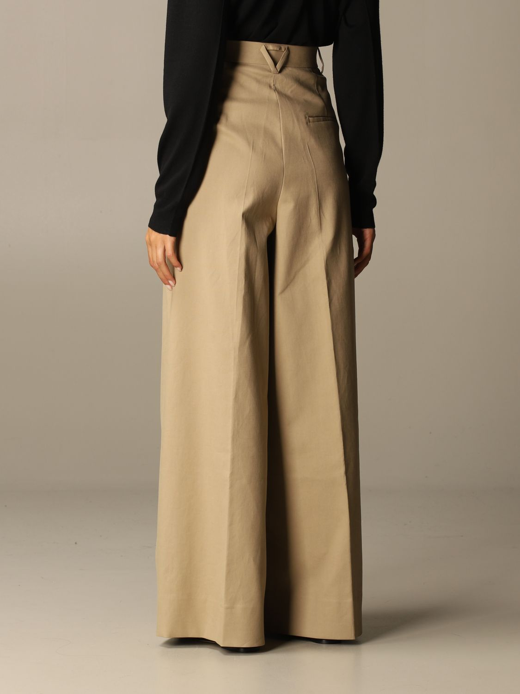 Pants Bottega Veneta: Wide Bottega Veneta trousers beige 3