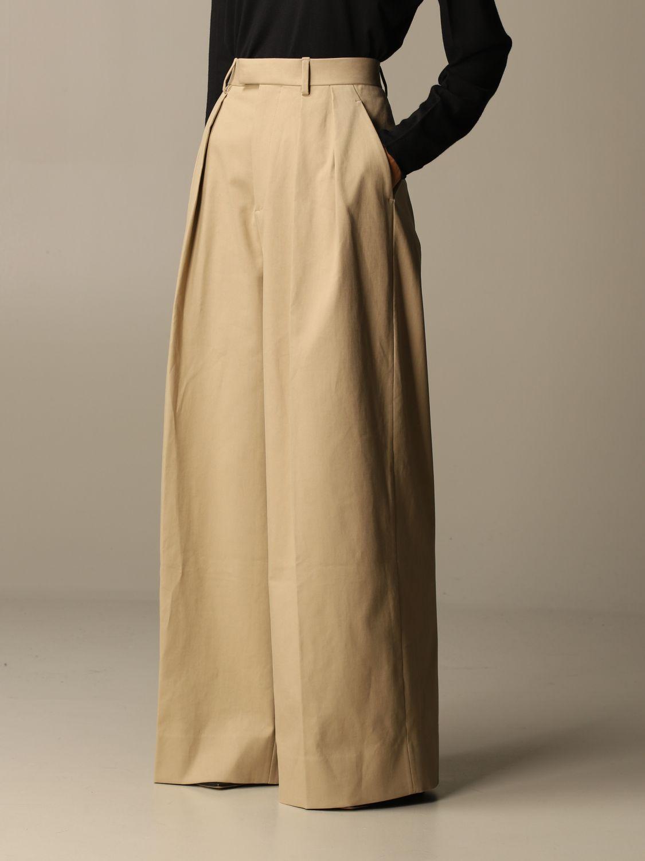 Pants Bottega Veneta: Wide Bottega Veneta trousers beige 4